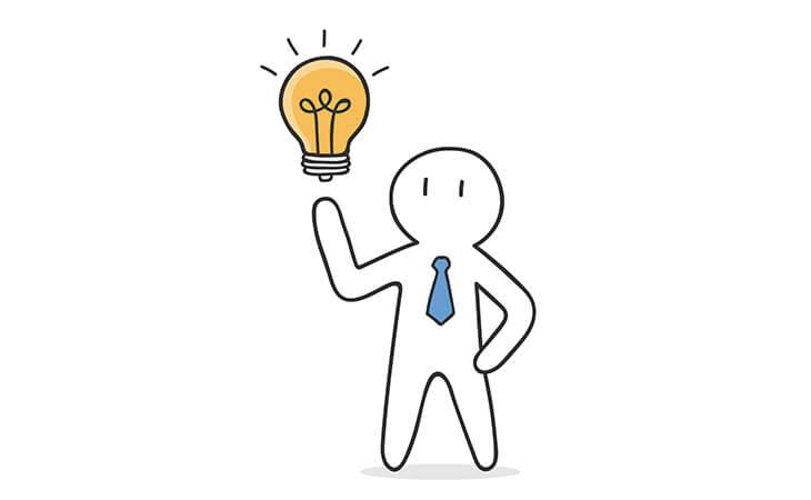 man finding idea