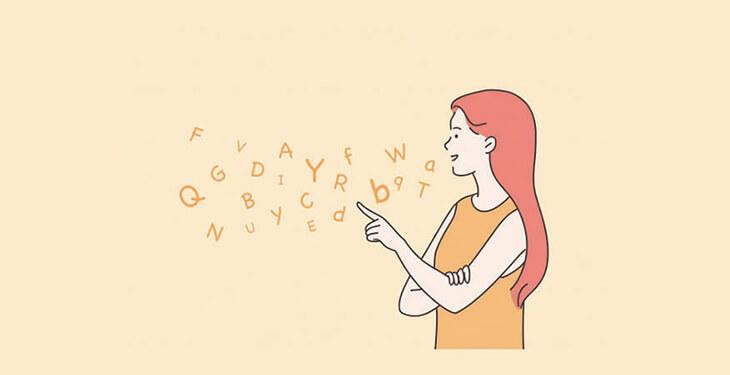 woman speaking english