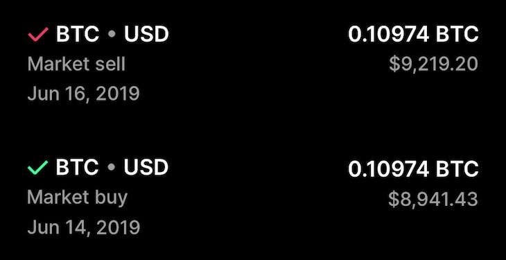 own 0.1 BTC