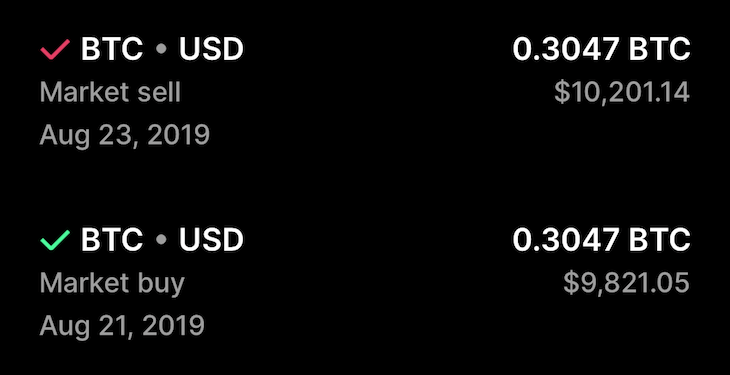 own 0.3 BTC