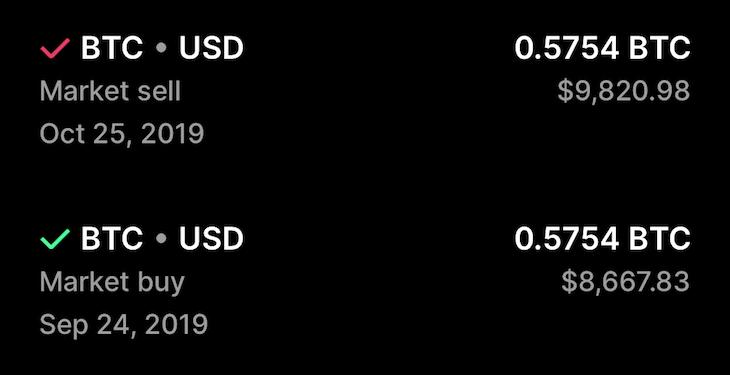 own 0.5 BTC