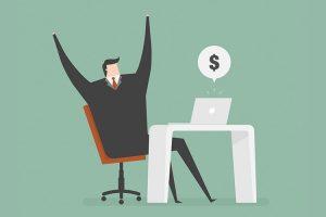 man earning money